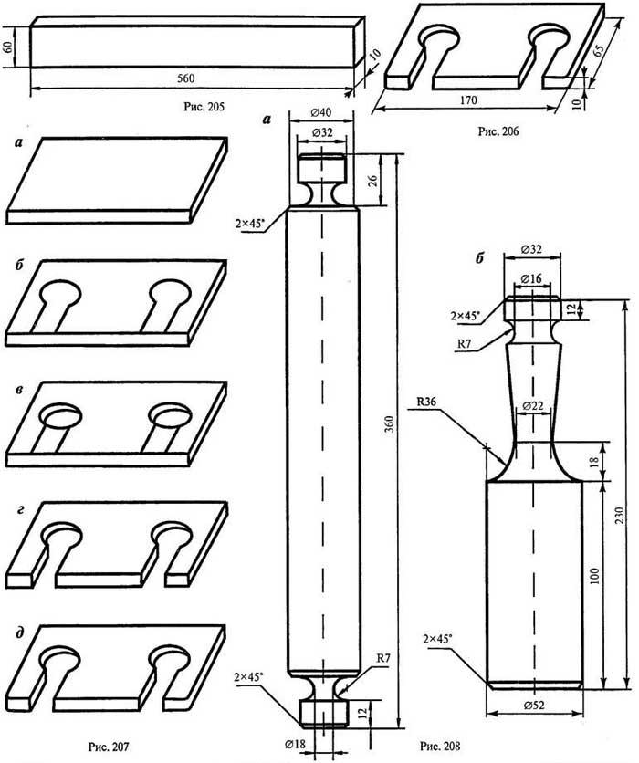 чертеж кухонной лопатки